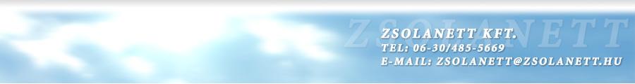 Zsolanett Kft. honlapja